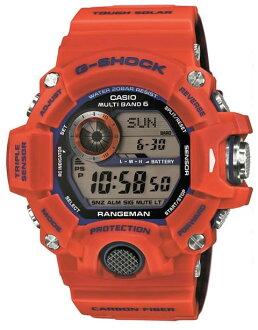 凱西歐凱西歐 g 衝擊 G 衝擊頭兒排列神戶消防部門協作有限模型太陽能收音機手錶橙色 GW-9400FBJ-4JR 國內普通版