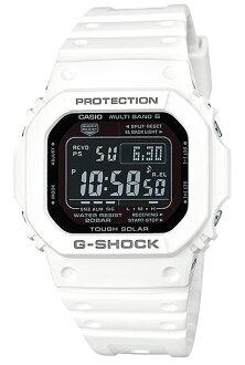 """凱西歐 G 震撼凱西歐 g-休克""""數位太陽能波男裝手錶白色黑色疊加 GW-M5610MD-7JF 定期國內"""