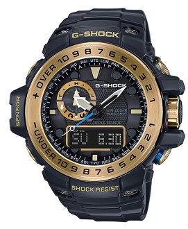 카시오 G 쇼크 걸프 마스터 CASIO G-SHOCK 제한 GULFMASTER 전파 솔 러 전파 시계 남성용 아날로그-디지털 시계 블랙 골드 GWN-1000GB-1AJF