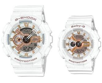 """凱西歐 G 禮物愛好者收藏 2015 G 震撼凱西歐 g 休克""""寶貝 g 嬰兒 G 整個男性女士手錶白色疊加限量版 LOV-15A-7AJR 定期國內"""