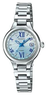 카시오 CASIO SHEEN 장면 솔 러 전파 여성 시계 실버 블루 그라데이션 SHW-1700D-2AJF 국내 정품