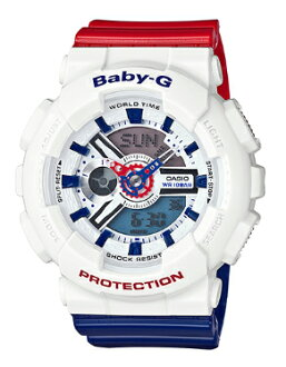 41da71255be0 G-SUPPLY  G-shock baby G Casio CASIO baby-g white and tricolor series ladies  an analog-digital watch white red blue BA-110TR-7AJF BA-110TR-7A