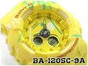 b2f08648b3f8a CASIO BABY-G GEOMETRIC design (aestheometry) reimportation foreign  countries model Casio baby G アナデジ watch yellow BA-120SC-9ADR BA-120SC-9A
