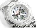 【ポイント2倍!!+送料無料!】ベビーG Baby-G ベビージー トリコロール・シリーズ 逆輸入海外モデル カシオ CASIO アナデジ 腕時計 ホワイト BGA-110TR-7BCR BGA-11