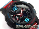 27c0ab51e9f57 CASIO BABY-G Crazy G-LIDE G ride reimportation foreign countries model  Casio baby G アナデジ watch black red BGA-180-4BDR BGA-180-4B