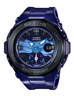카시오 CASIO BABY-G 카시오 베이비 G G-LIDE G를 타고 Beach Glamping Series 비치 グランピング 시리즈 20 기 압 방수-디지털 여성용 시계 블루 BGA-220B-2AJF BGA-220B-2A