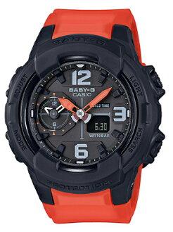 베이비 G BABY-G 베이비 지 CASIO 카시오 아날로그-디지털 시계 블랙 오렌지 BGA-230-4BJF
