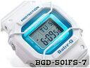 【ポイント2倍!!+送料無料!】ベビーG Baby-G ベビージー プロテクター付き復刻 逆輸入海外モデル カシオ CASIO デジタル 腕時計 ホワイト ブルー BGD-501FS-7CR BGD-