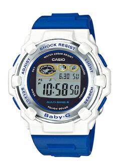 凱西歐凱西歐寶貝 g 凱西歐寶貝 G 部分 / 日本協作模型海豚鯨魚頻帶 6 艱難太陽能數位女式手錶 BGR 3006 K 7JR BGR-3006 K-7JR