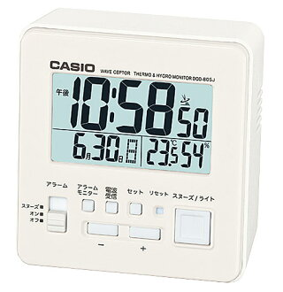 凱西歐時鐘凱西歐時鐘收音機鬧鐘時鐘溫度濕度儀與白色級差-805J-7JF 定期國內