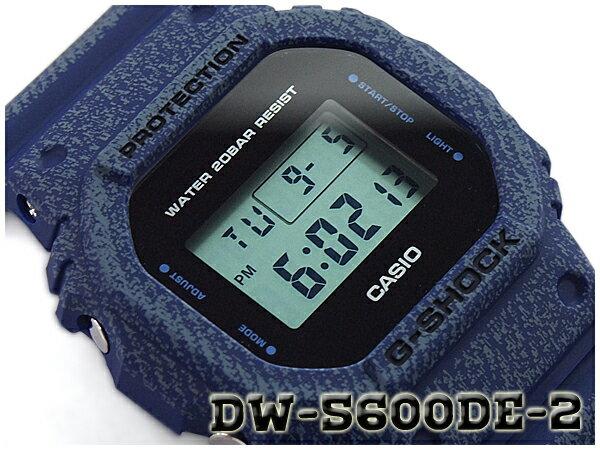 G-SHOCK Gショック ジーショック DENIM'D COLOR 限定モデル 逆輸入海外モデル カシオ CASIO デジタル 腕時計 デニム ネイビー ブルー DW-5600DE-2DR DW-5600DE-2