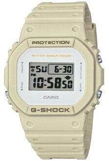 카시오 CASIO G-SHOCK 카시오 G 쇼크 Military color Series 밀리터리 컬러 시리즈 한정 모델 DW-5600 기반 디지털 남자 시계 화이트 × 샌드 베이 지 DW-5600EW-7JF DW-5600EW-7