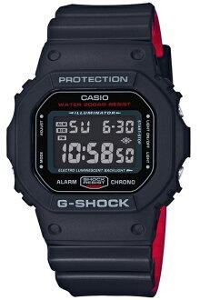 카시오 CASIO G-SHOCK 카시오 G 쇼크 Black & Red Series 블랙 & 레드 시리즈 DW-5600 기반 디지털 남자 시계 블랙/레드 DW-5600HR-1JF DW-5600HR-1