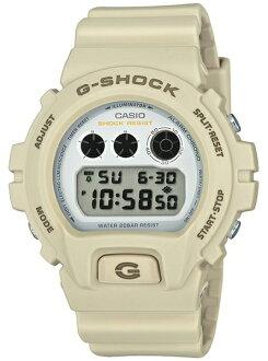 카시오 CASIO G-SHOCK 카시오 G 쇼크 Military color Series 밀리터리 컬러 시리즈 한정 모델 DW-6900 기반 디지털 남자 시계 화이트 × 샌드 베이 지 DW-6900EW-7JF DW-6900EW-7