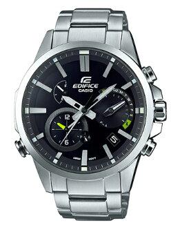 卡西歐CASIO EDIFICE edifisumobairurinkusoraanarogumenzu手錶黑色×銀子EQB-700D-1AJF EQB-700D-1A