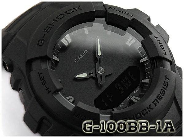 G-SHOCK Gショック ジーショック 逆輸入海外モデル 限定 カシオ CASIO アナデジ 腕時計 マット オールブラック G-100BB-1ADR G-100BB-1A【あす楽】