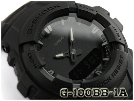 G-SHOCK Gショック ジーショック 逆輸入海外モデル CASIO アナデジ 腕時計 マット オールブラック G-100BB-1A