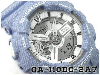 G-SHOCK G 쇼크 데님 DENIM 'D COLOR 한정 모델 CASIO 카시오 아날로그-디지털 시계 블루 GA-110DC-2A7CR GA-110DC-2A7