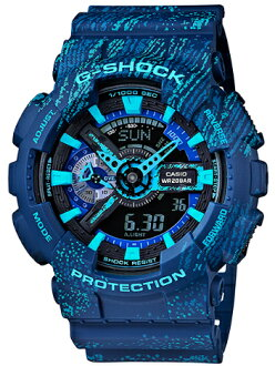 G-SHOCK G 충격 지 쇼크 카시오 CASIO 쌍 한정 모델-디지털 시계 ミストテクスチャー 블루 GA-110TX-2AJF