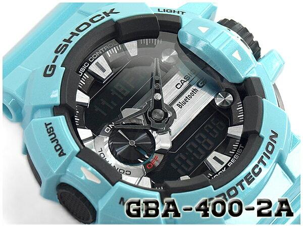 Gショック ジーショック G-SHOCK カシオ CASIO 限定モデル ジーミックス G'MIX Bluetooth スマフォ連携モデル 逆輸入海外モデル アナデジ 腕時計 ライトブルー GBA-400-2CDR GBA-400-2C