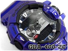 Gショック ジーショック G-SHOCK カシオ CASIO 限定モデル ジーミックス G'MIX Bluetooth スマフォ連携モデル 逆輸入海外モデル アナデジ 腕時計 ネイビー パープル GBA-400-2ADR GBA-400-2A