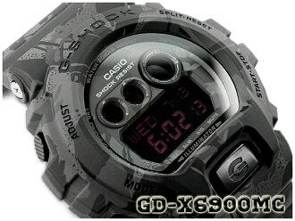 G-休克限量版模型 G 休克 gshock 凱西歐凱西歐數位手錶系列偽裝迷彩系列黑暗迷彩黑色 GD X6900MC 1ER GD-X 6900MC-1