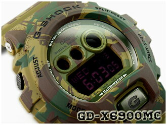 G-休克限量版模型 G 休克 gshock 凱西歐凱西歐數位手錶系列偽裝迷彩系列林地迷彩綠色 GD-X6900MC-3CR GD-X 6900MC-3
