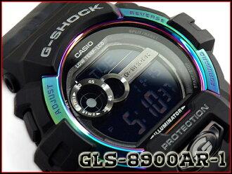 """G-震撼 G 衝擊""""G 立德 G 騎反向海外 2015年有限的模型凱西歐凱西歐數位手錶黑色極光 GLS-8900AR-1 博士 GLS-8900AR-1"""