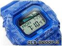 【ポイント2倍!+送料無料!】G-SHOCK Gショック gshock カシオ CASIO デジタル 腕時計 Gライド G-LIDE ブルー 花柄 GLX…