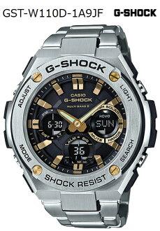 G-SHOCK G손크지손크 G-STEEL G스틸 카시오 CASIO 전파 소라아나데지멘즈 손목시계 실버 골드 블랙 GST-W110D-1 A9JF