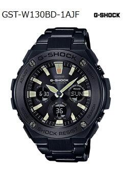 G-SHOCK G손크지손크 G-STEEL G스틸 카시오 CASIO 전파 소라아나데지멘즈 손목시계 블랙 GST-W130BD-1 AJF