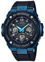 【ポイント2倍!!+送料無料!】G-SHOCK Gショック ジーショック G-STEEL Gスチール カシオ CASIO 電波ソーラー アナデジ 腕時計 ブラック ブルー GST-W300G-1A2J