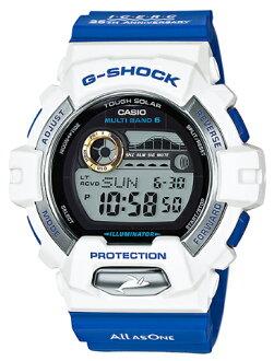 카시오 CASIO G-SHOCK 카시오 G 쇼크 아이 서치 재팬 협업 모델 돌고래 고래 전파 솔 러 디지털 남자 시계 화이트 블루 GWX-8903K-7JR GWX-8903K-7JR
