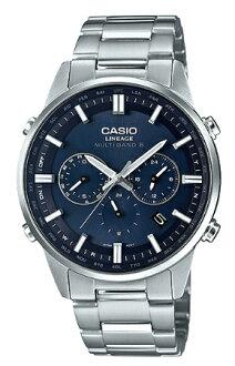 카시오 CASIO LINEAGE 리니에이지마르치반드 6 전파 솔러 아날로그 맨즈 손목시계 블루×실버 LIW-M700D-2 AJF LIW-M700D-2 A