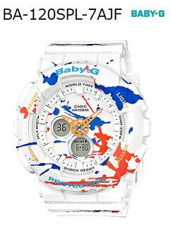 BABY-G嬰兒G嬰兒G限定型號磁振·模式卡西歐CASIO anadeji手錶howaitogurafiti BA-120SPL-7AJF