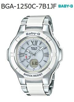 BABY-G베이비 G베비지콘포짓트데자인카시오 CASIO 전파 소라아나데지 손목시계 화이트 실버 BGA-1250 C-7 B1JF