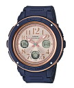 BABY-G ベビーG ベビージー カシオ CASIO アナデジ 腕時計 ピンクゴールド ネイビー BGA-150PG-2B1 逆輸入海外モデル
