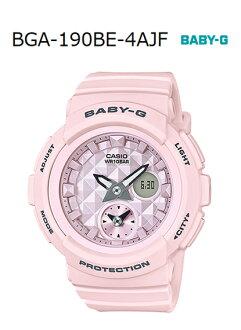 BABY-G베이비 G베비지 Beach Colors 비치・카라즈카시오 CASIO 아나데지 손목시계 파스텔 핑크 BGA-190 BE-4 AJF