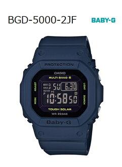 BABY-G베이비 G베비지카시오 CASIO 전파 솔러 디지털 손목시계 네이비 BGD-5000-2 JF