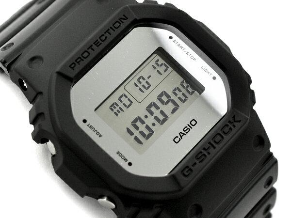 G-SHOCK Gショック ジーショック 限定モデル Metallic Mirror Face メタリック・ミラーフェイス 逆輸入海外モデル カシオ CASIO デジタル 腕時計 ブラック シルバー DW-5600BBMA-1DR DW-5600BBMA-1