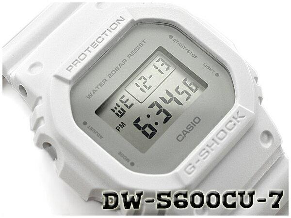 G-SHOCK Gショック ジーショック ミリタリーカラー 限定モデル 逆輸入海外モデル CASIO カシオ デジタル 腕時計 ホワイト グレー DW-5600CU-7ER DW-5600CU-7