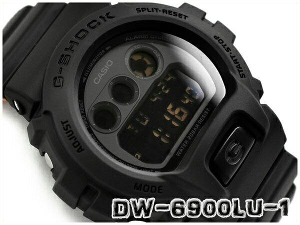 G-SHOCK Gショック ジーショック ミリタリー 逆輸入海外モデル カシオ CASIO デジタル 腕時計 ブラック ベージュ DW-6900LU-1DR DW-6900LU-1
