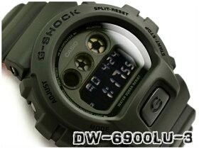 G-SHOCKGショックジーショックミリタリー逆輸入海外モデルカシオCASIOデジタル腕時計カーキグリーンオレンジDW-6900LU-3DRDW-6900LU-3【あす楽】