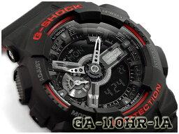 撫摩G-SHOCK G打擊返銷進口海外型號黑色&紅系列限定型號CASIO尺或二手錶黑色紅GA-110HR-1ACR GA-110HR-1A
