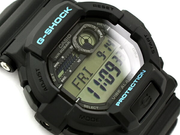 G-SHOCK Gショック ジーショック 逆輸入海外モデル カシオ CASIO バイブレーション機能 デジタル 腕時計 ブラック ブルー GD-350-1CCR GD-350-1C【あす楽】