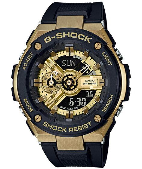 G-SHOCK Gショック ジーショック G-STEEL Gスチール カシオ CASIO アナデジ 腕時計 ブラック ゴールド GST-400G-1A9JF【国内正規モデル】