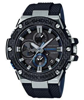 G-SHOCK G打擊G打擊G-STEEL G鋼鐵Bluetooth手機鏈接功能卡西歐CASIO太陽能模擬人手錶黑色藍色GST-B100XA-1AJF