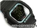 G-SHOCK Gショック ジーショック Neon accent color ネオンアクセントカラー 逆輸入海外モデル カシオ CASIO 電波ソーラー デジタル 腕時計 ブルー ブラック GW-M5