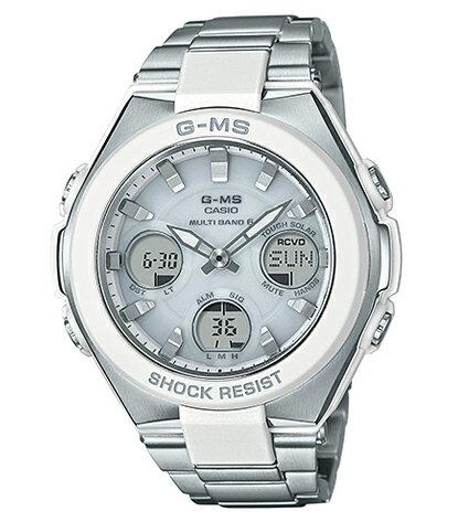 BABY-G ベビーG ベビージー G-MS(ジーミズ) カシオ CASIO 電波 ソーラー アナデジ 腕時計 シルバー ホワイト MSG-W100D-7AJF【国内正規モデル】