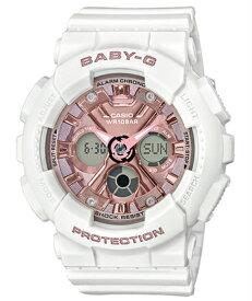 BABY-G ベビーG ベビージー カシオ CASIO アナデジ 腕時計 ホワイト ピンクゴールド BA-130-7A1JF【国内正規モデル】